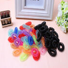 12*Colorful Black Elastic Rubber Hair Tie Band Rope Ponytail Holder for Girl Kid