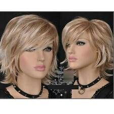 HE-J804  Popular short blonde mix Cosplay straight  hair Wigs for women wig