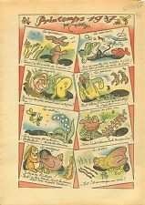 Caricature Politique Birds Hens Fishs Rabbit Butterfly Lapins 1937 ILLUSTRATION