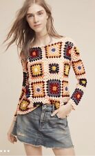 "Anthropologie ""Retrospect Crocheted Pullover"" by Moth--L"