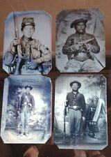 Lot of 4 Civil War Tintypes Our Best Sellers 501NP