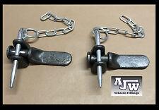 2 x Tailboard Forket, 2 x Pin & Chain, 2 x Lug, Truck Dropside Tipper Trailer
