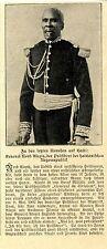 Haiti-Unruhen General Nord Alexis Historische Aufnahme von 1908