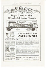 Vintage, Original, 1921 - Meccano Auto Chassis Advertisement - Erector Toy