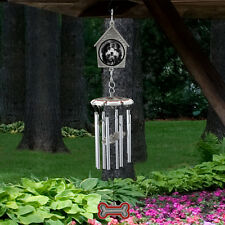 Best Friend (Dog) Pet Remembrance Hanging Wind Chime Memorial Photo Frame NIB