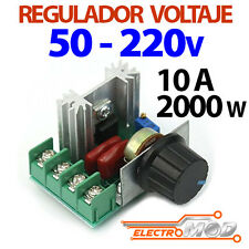 Regulador voltaje ajustable 50v 220v 2000w 10A tension PWM AC Motor luz