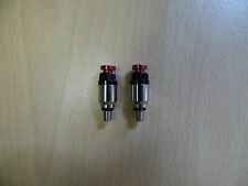Red / Silver - Fork bleeder valves - HONDA CRF250, CRF450, CR125, CR250
