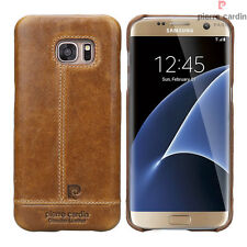 Pierre Cardin For Samsung Galaxy S7 Edge Genuine Leather Hard Back Case Cover