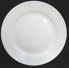 Home Dinner Plate Solid White with Raised Bands