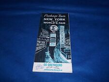 Vintage 1964-65 New York World's Greyhound Bus Schedule and Prices