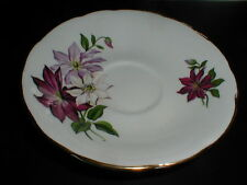 Royal Kendall English Bone China Purple Lavender White Poinsettia Saucer (sau-36