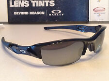 Oakley Flak Jacket 1.0 Jet Black w/ Black Iridium Polarized Std - SKU# 12-900