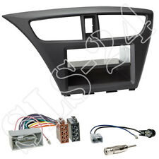Honda Civic fk2/fk3 ab02/2014 2-din diafragma + + especializada ISO adaptador + conector antenas set