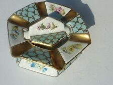Pillivuyt La Porcelaine De France Paris Hand Painted Porcelain Ashtray