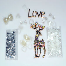 Hot 3D Bling Deer DIY Cell Phone for iPhone4 Case - Deco Den Kit