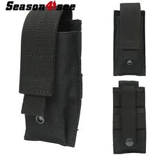 Tactical Military Molle Utility Tools Knife OC Spray Flashlight Pouch Holster BK