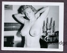 VIRGINIA BELL Burlesque Huge Breasts Nipples 1950 ORIGINAL PINUP PHOTO B2491