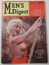 MEN'S DIGEST MAGAZINE #19 JAN 1959 BETTY PETERS CONNIE SELLERS D BRUCE BERRY ART