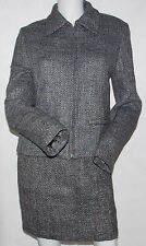 Women United Colors Of Benetton Skirt Suit Jacket 42 Skirt 44 Wool Made In Italy