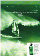 PUBLICITE ADVERTISING 1986   HERMES  eau de Cologne               270213
