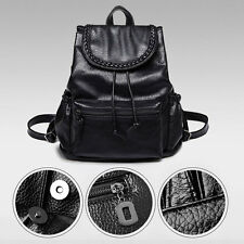Newfashioned All-matching Flip Style PU Leather Backpack Shoulder School Bag