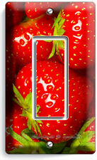 SWEET STRAWBERRIES SINGLE GFI LIGHT SWITCH WALL PLATE KITCHEN DECOR DINING ROOM