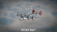 B-24 Liberator WWII Christmas Ornament Airplane USAF Silver Chief B-24D B-24J