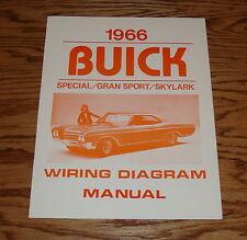1966 Buick Special Gran Sport Skylark Wiring Diagram Manual 66