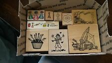 LOT of 9 - BIRTHDAY / KIDS STAMPS  Cardmaking/Scrapbooking/Stamping (H)