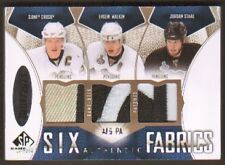 2009/10 Upper Deck SP Game Used SPGU Six Patches /5 Crosby Malkin Giroux Carter
