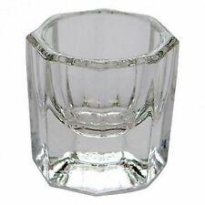 Clear Nail Art Acrylic Crystal Glass Dappen Dish Liquid Powder Container