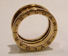 AUTHENTIC BULGARI BVLGARI B.ZERO1 PINK GOLD RING 18K ITALY SIZE 52