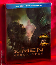 Marvel X-Men Apocalypse Lentuclar Blu-ray/DVD/DC Steelbook Exclusive Embossed