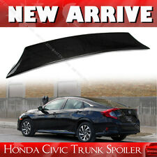LX EX Carbon For Honda Civic 10th Sedan V Look Trunk Boot Spoiler 2016 New