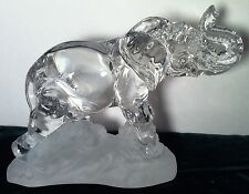 PRINCESS HOUSE CRYSTAL * ELEPHANT * etched base Wonders of the Wild