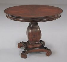 42 Inch Round Conference Table PEDESTAL BASE with SCROLL FEET Real Cherry Wood