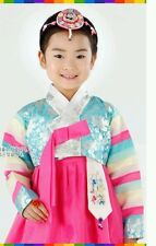 Korean Hanbok Traditional Costume Girl's Size 7  Korean Dress dolbok 2pcs -K1