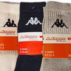 Kappa Original Sport Socken Weiß Schwarz Grau MIX 9-24 Paar Tennissocken Fußball