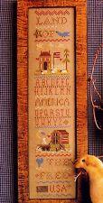 Homespun Elegance LAND OF THE FREE SAMPLER Cross Stitch Chart/Leaflet ~patriotic