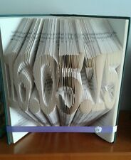 New handmade folded book art ornament with ANY date 1st anniversary birth weddin