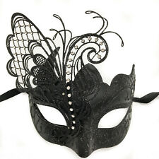 Black Small Dream Butterfly Mardi Gras Halloween Ball Prom Masquerade Mask