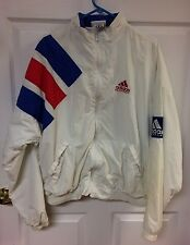 Vintage Adidas Equipment Red White & Blue Zip Up Windbreaker USA Jacket Size XL