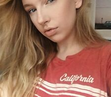 """Sold Out! brandy melvillesoft red wash crop """"California"""" graphic ringer top NWT"""