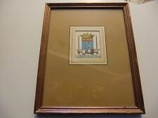 17th Century Coat of Arms Louis 13th framed print W King Ambler