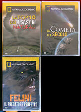 3 Documemtari NATIONAL GEOGRAPHIC - 3 DVD NUOVI, ORIGINALI, INCELLOFANATI