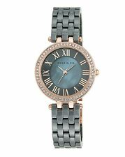 New Anne Klein AK/2200RGGY Gray Ceramic Swarovski Crystal Women's Watch