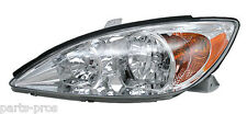 New Replacement Headlight Assembly LH / FOR 2002-04 TOYOTA CAMRY LE & XLE