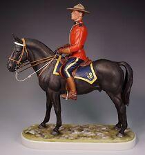 Royal Worcester 1966 Royal Canadian Mounted Policeman Doris Lindner - RARE
