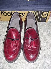 Vintage Footjoys 74716 Classics Dress Shoes Burgundy Lizard Tassel Shoes 7.5 D
