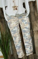 NEU ☆★COOL ☆★ BAGGY BOYFRIEND HOSE ☆★ PANTS STRETCH CAMOUFLAGE ROSA S 36